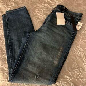 Distressed slim straight Gap jeans